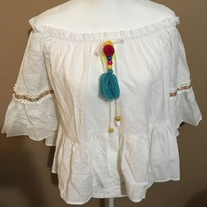 Tops - Boho Festival Off the Shoulder peasant Top
